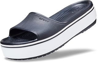 d8429e872 Black White Crocband™ Platform Slide